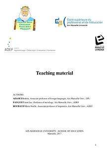 Educational Support Material by the University of Aix-Marseille