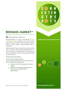 BIOMASS.MARKET™ - A Disruption With a Difference