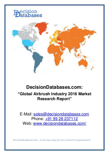 Global Airbrush Industry  ket Research Report Mar 2016