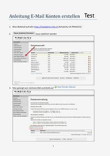 Anleitung E-Mail Konto erstellen
