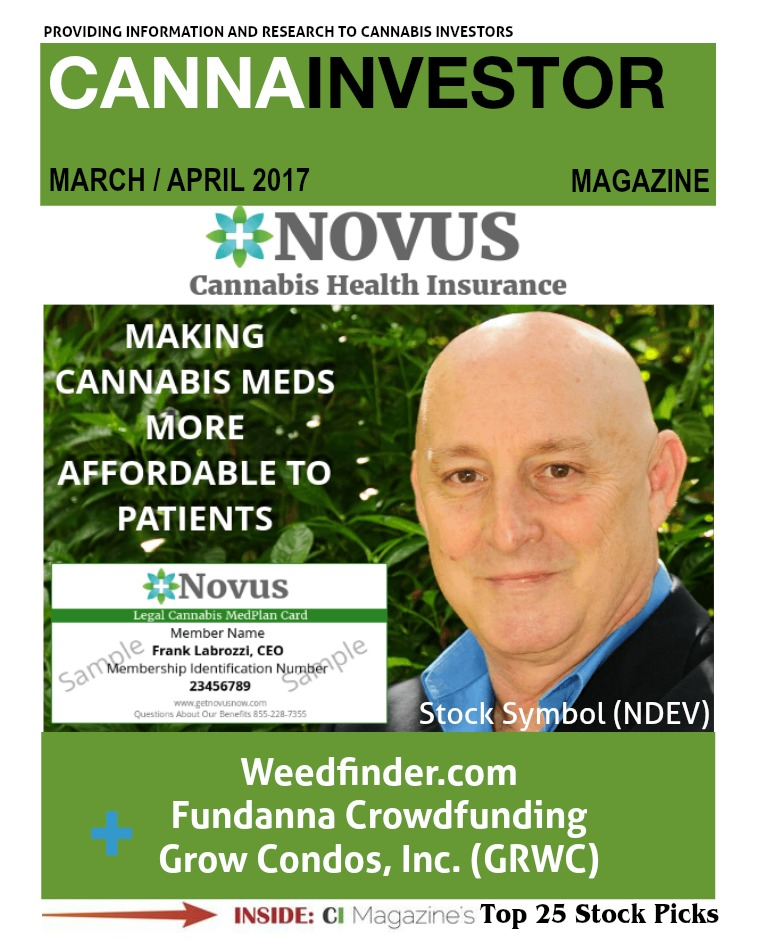 CANNAINVESTOR Magazine March / April 2017