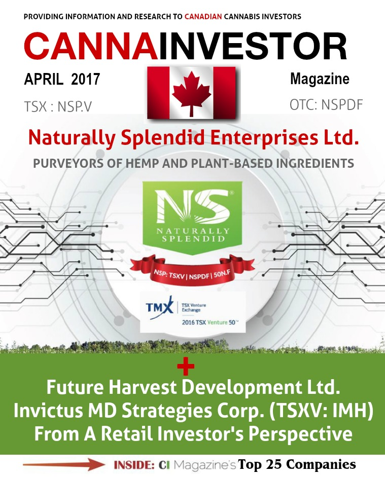 Canadian CANNAINVESTOR Magazine April 2017