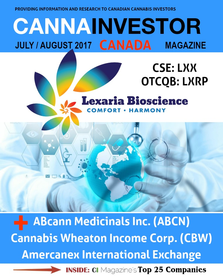 Canadian CANNAINVESTOR Magazine July / August 2017