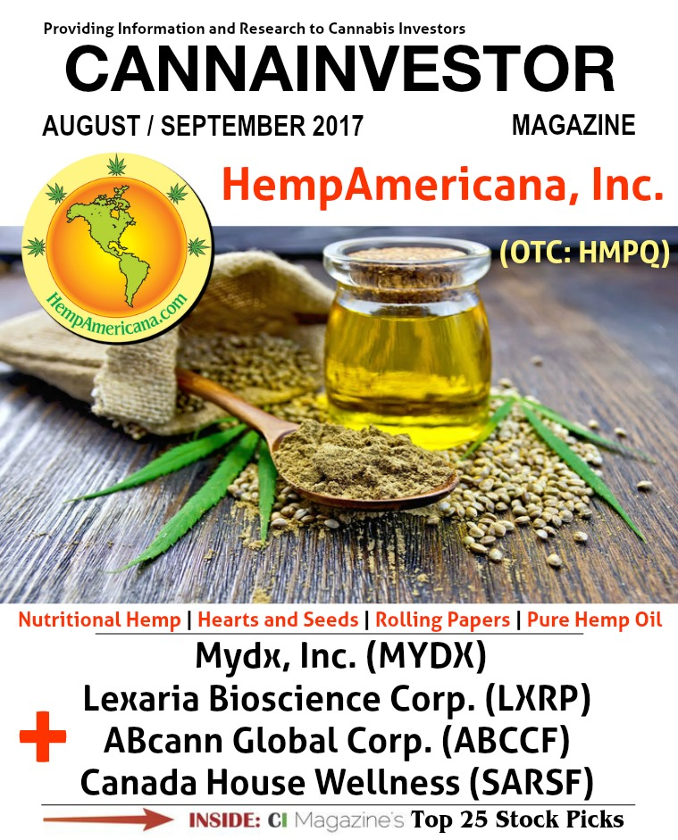 CANNAINVESTOR Magazine August / September 2017