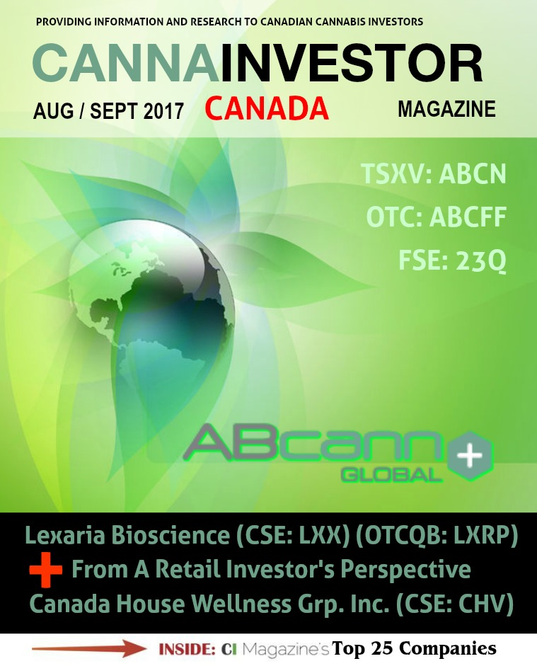 Canadian CANNAINVESTOR Magazine August / September 2017