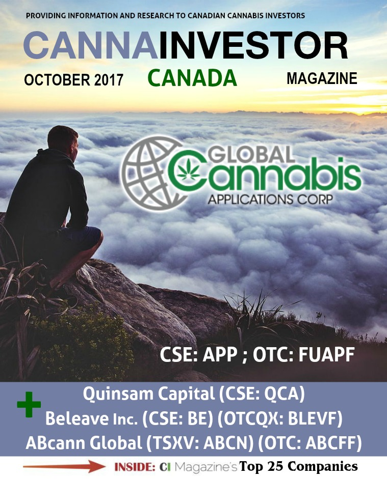 Canadian CANNAINVESTOR Magazine October 2017