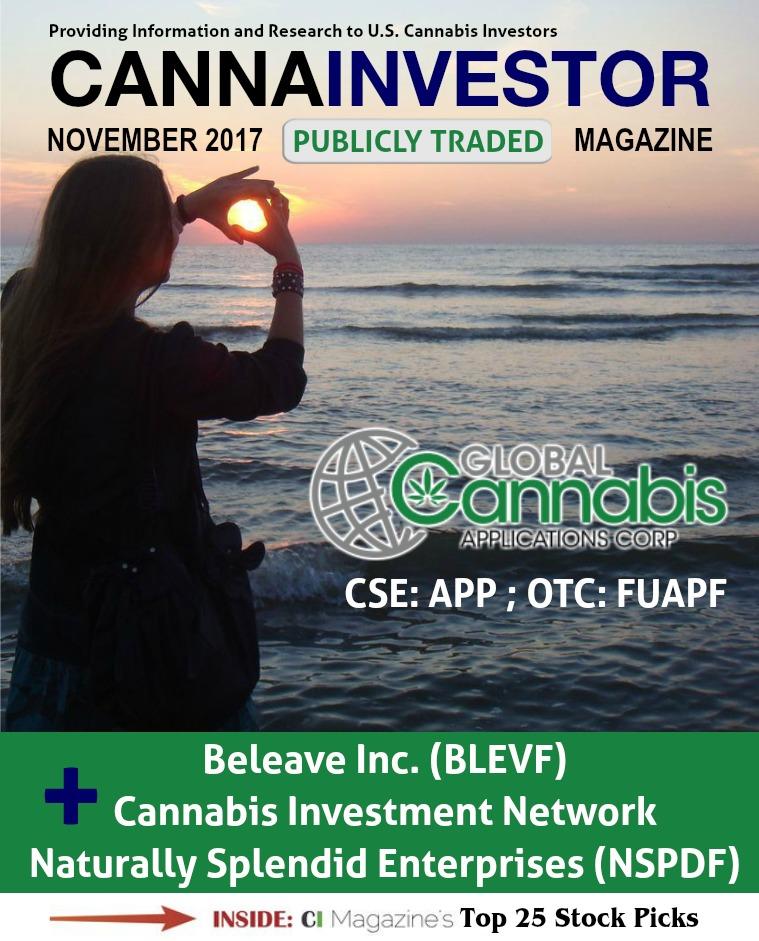 CANNAINVESTOR Magazine U.S. Publicly-Traded Companies November 2017