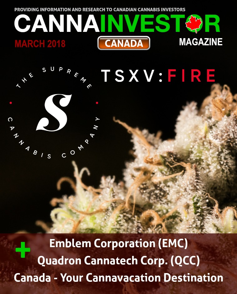 Canadian CANNAINVESTOR Magazine March 2018