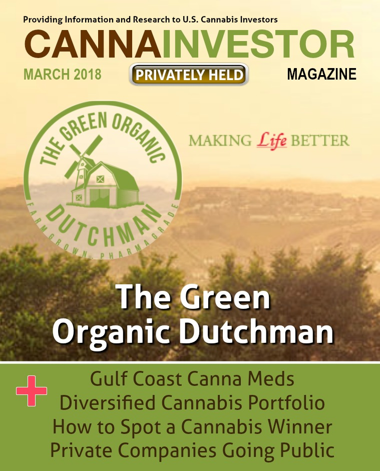 CANNAINVESTOR Magazine U.S. Privately Held Companies March 2018