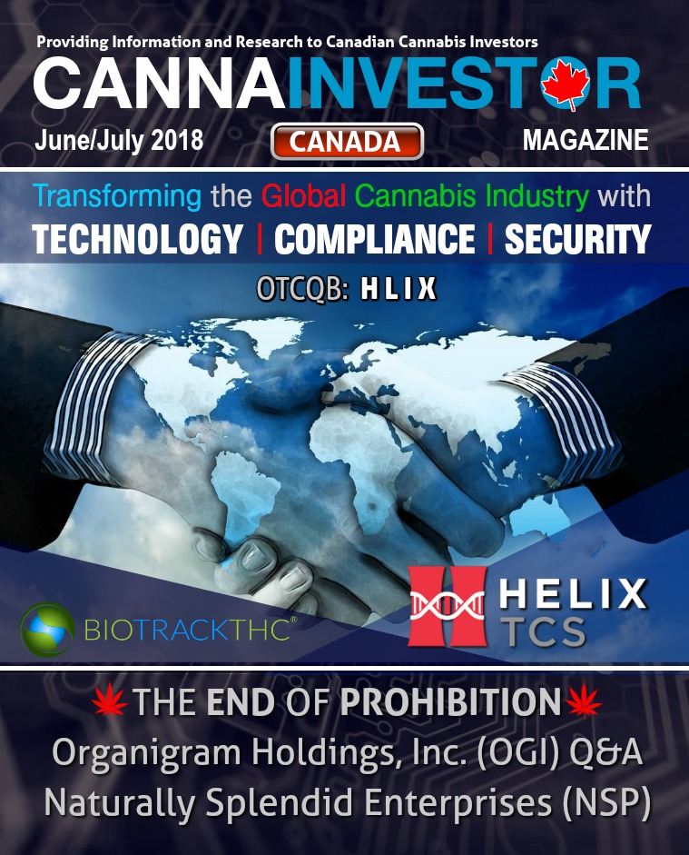 Canadian CANNAINVESTOR Magazine June / July 2018