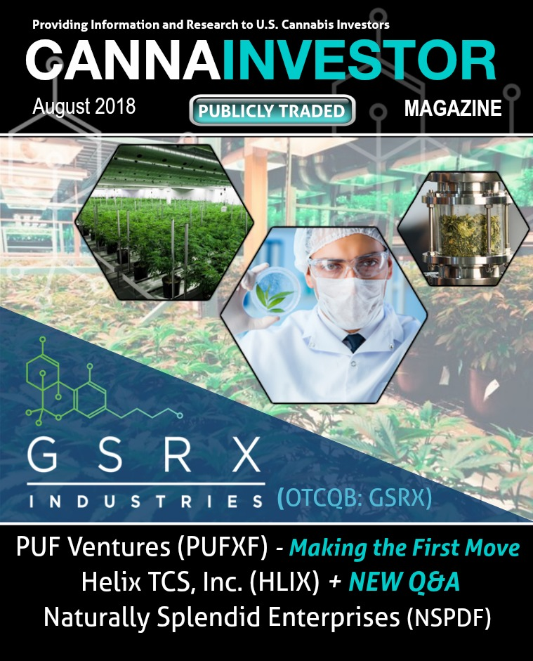 CANNAINVESTOR Magazine U.S. Publicly Traded August 2018