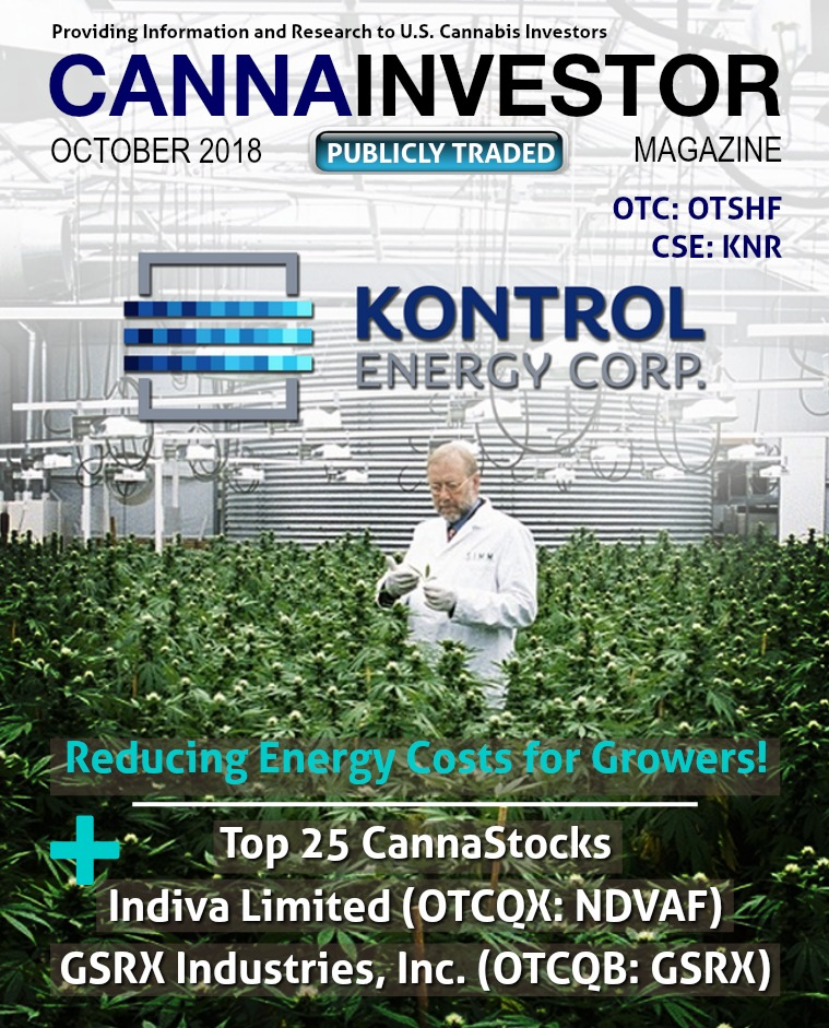 CANNAINVESTOR Magazine U.S. Publicly Traded October 2018