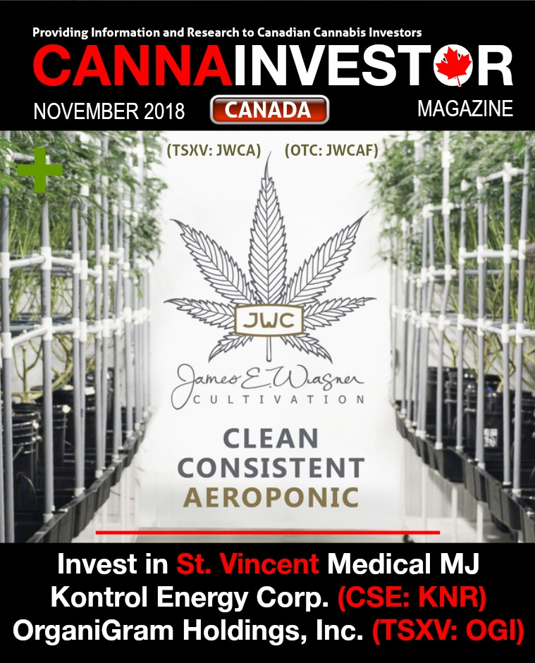 Canadian CANNAINVESTOR Magazine November 2018
