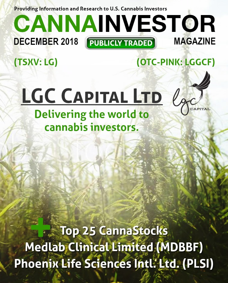CANNAINVESTOR Magazine U.S. Publicly Traded December 2018