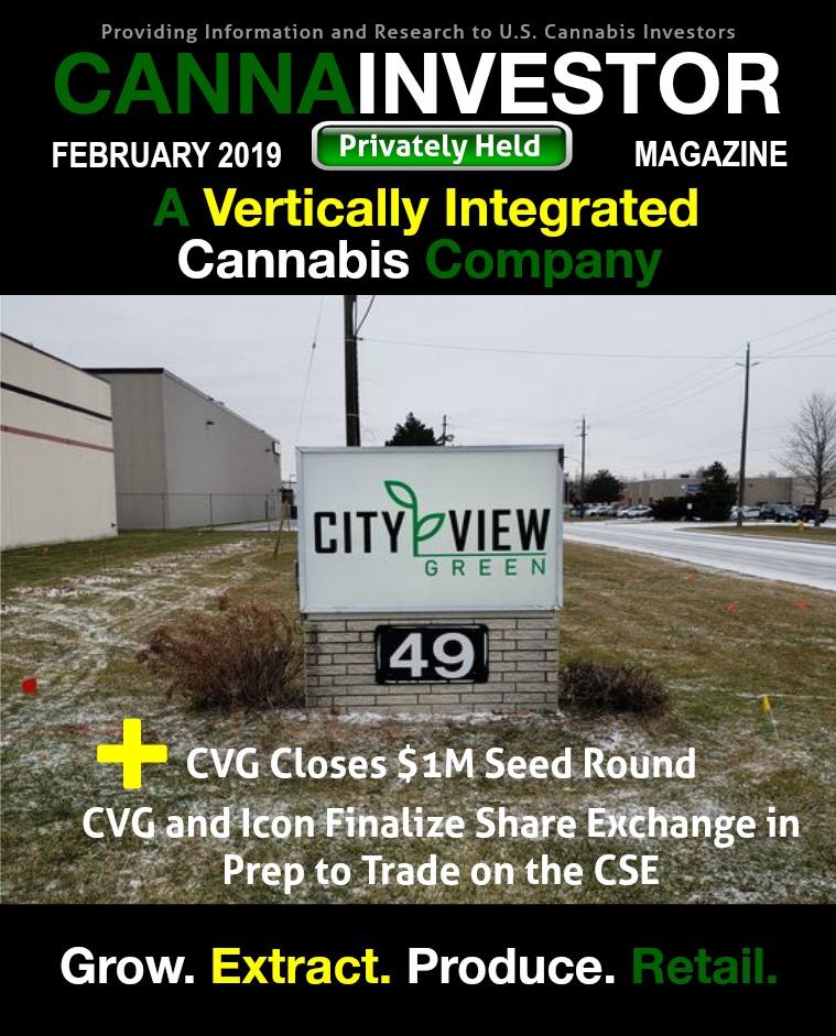 CANNAINVESTOR Magazine U.S. Privately Held February 2019