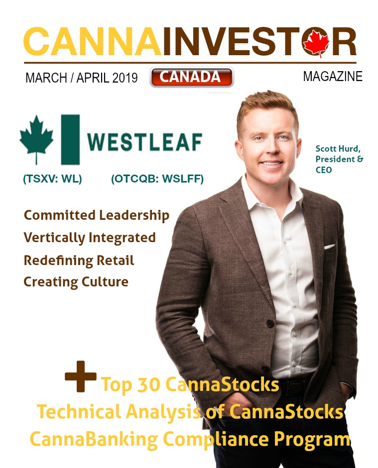 Canadian CANNAINVESTOR Magazine Canada March / April 2019