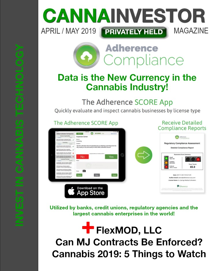 CANNAINVESTOR Magazine U.S. Privately Held April / May 2019