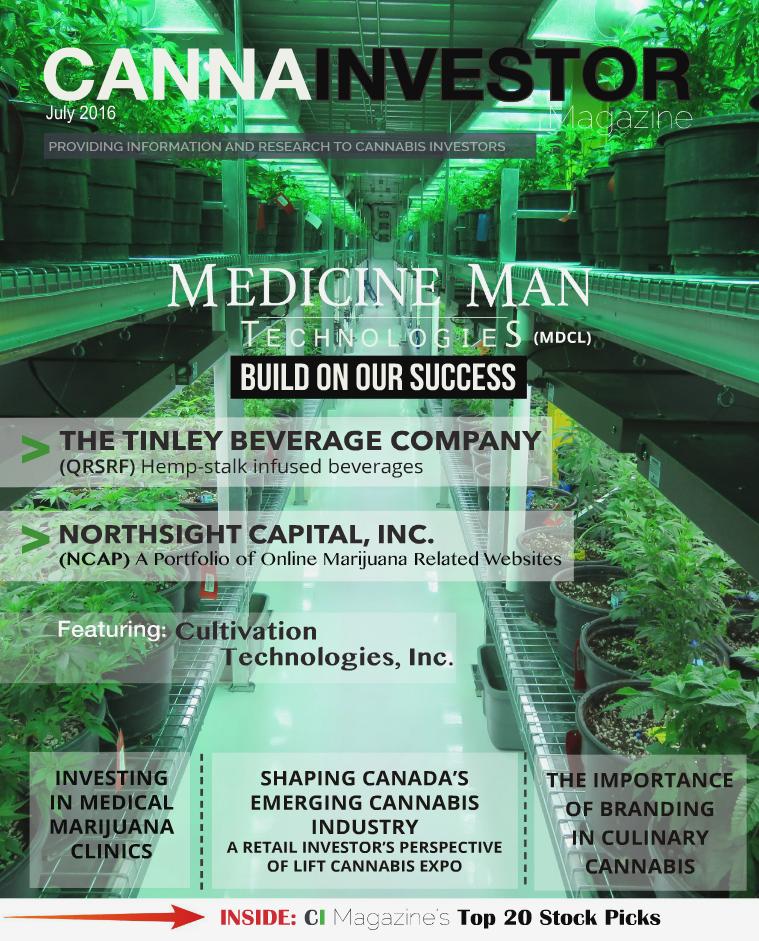CANNAINVESTOR Magazine July 2016