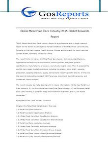 Global Metal Food Cans Industry  ket Research Report