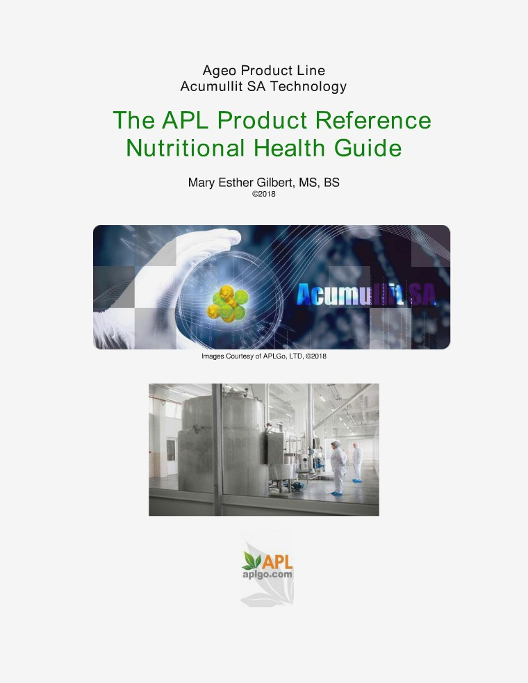 The APL Product Reference Nutritional Health Guide APL Product Reference Nutritional Health Guide