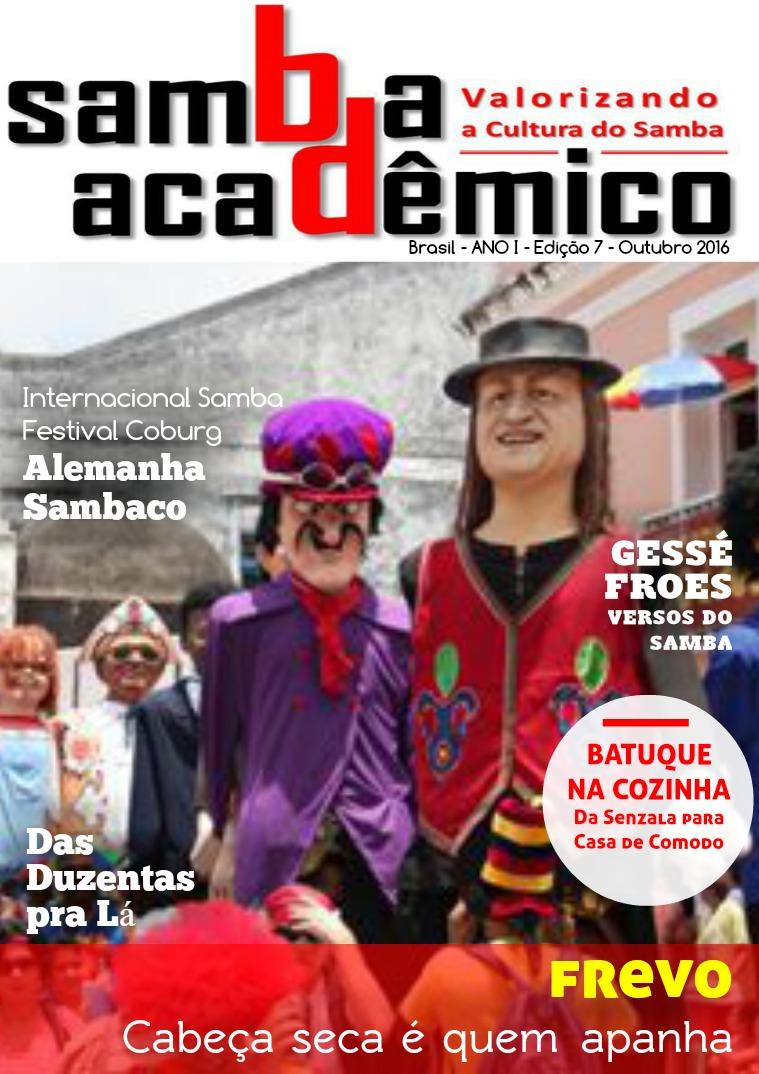 Samba Acadêmico Edição 07 Ano I Outubro 2016
