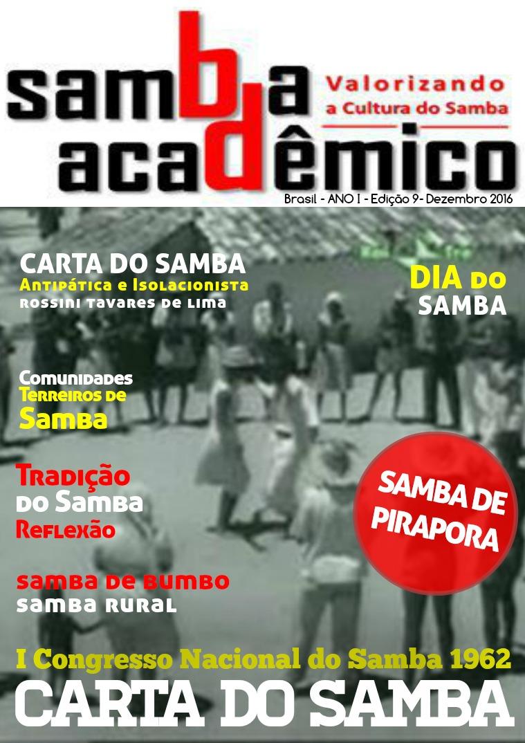 Samba Acadêmico Brasil Edição 09 ANO I Dezembro 2016