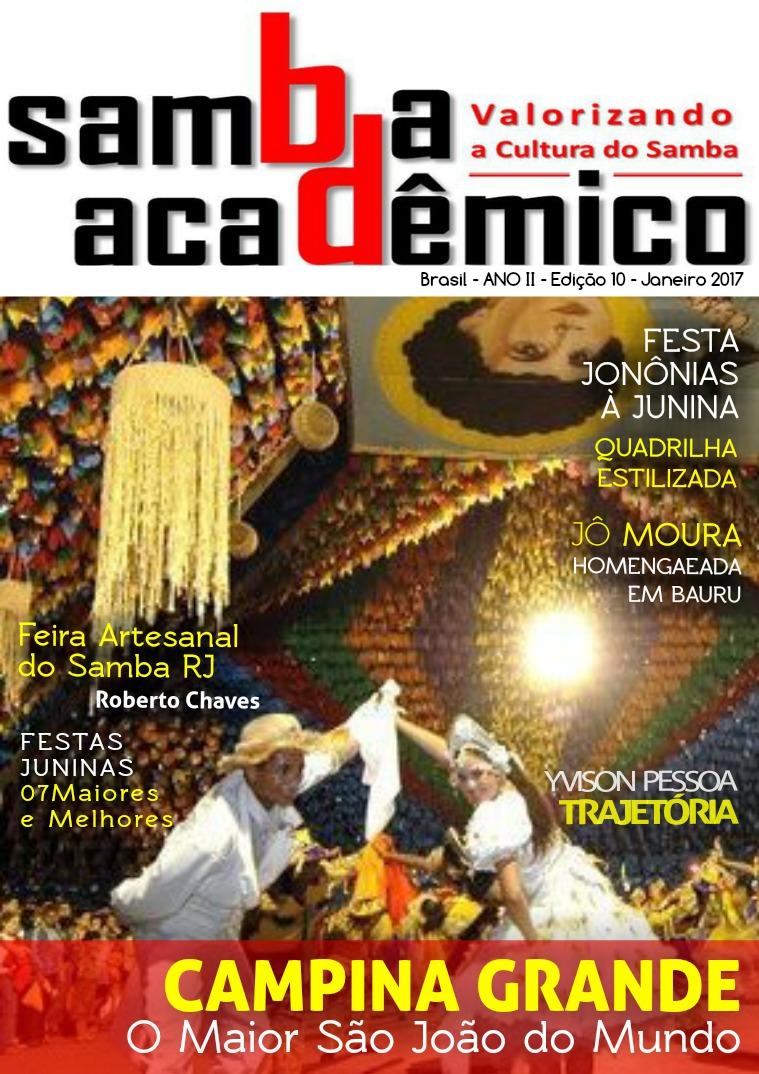 Samba Acadêmico Brasil Edição 10 ANO II Janeiro 2017
