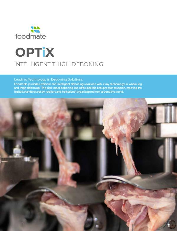 Foodmate | InsideTrack OPTiX · Intelligent Thigh Deboning