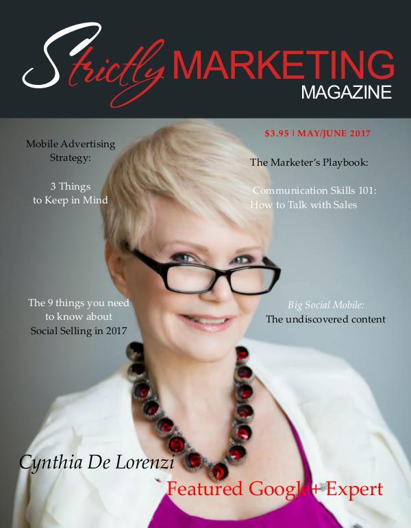 Strictly Marketing Magazine May/June 2017 Issue Strictly Marketing Magazine mayjune 2017