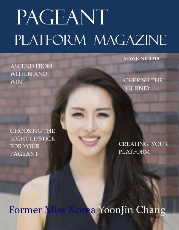 Pageant Platform Magazine May June 2018 Issue pageant platform magazine may june 2018