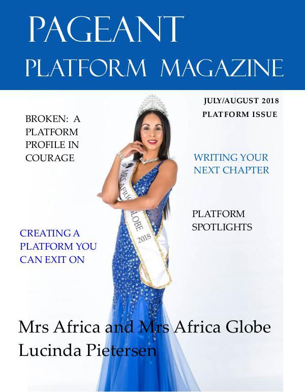 Pageant Platform Magazine July August 2018 Issue pageant platform magazine july aug