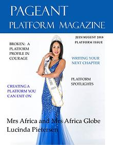 Pageant Platform Magazine July August 2018 Issue