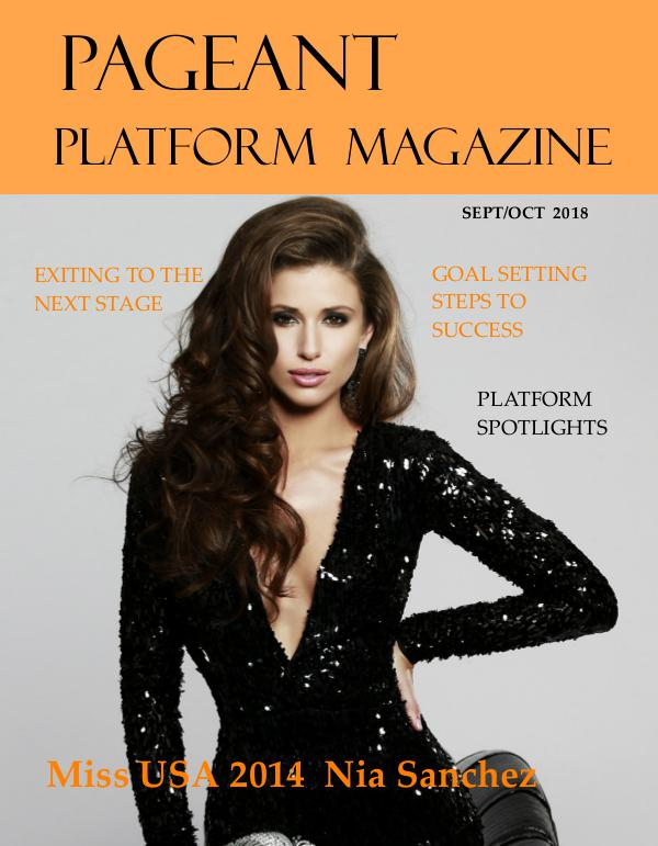 Pageant Platform Magazine Sept/Oct 2018 Issue pageant platform magazine sept oct