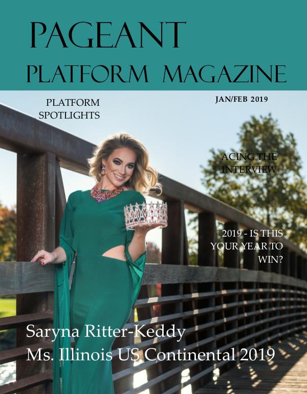 Pageant Platform Magazine Jan Feb 2019 pageant platform magazine jan feb