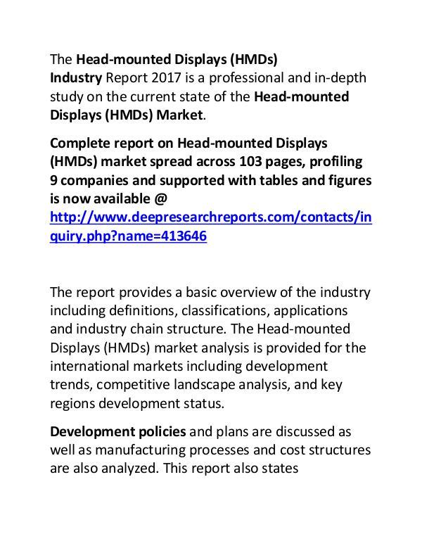 Head-mounted Displays Industry Market Trends, Share, Size and 2022 Head-mounted Displays Industry Market Trends, Shar