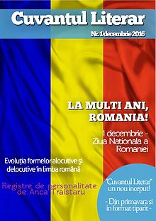 Revista Cuvantul Literar - Nr. 1 (decembrie 2016)
