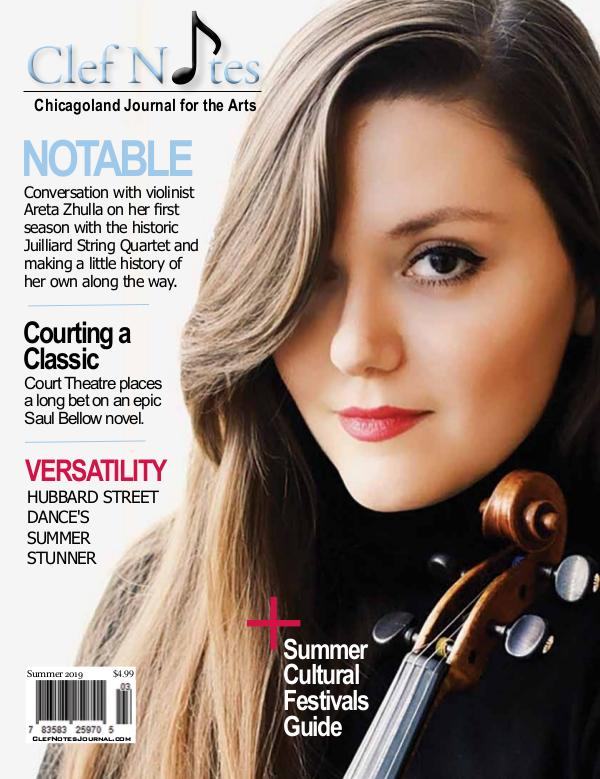 Clef Notes Chicagoland Journal for the Arts Summer 2019 Digital Edition