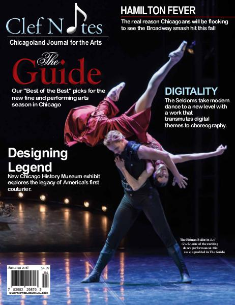 Clef Notes Chicagoland Journal for the Arts Autumn 2016 Issue