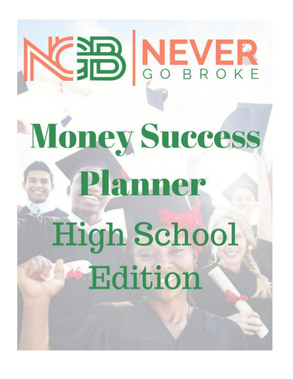 2019 Money Success Planner For High School Students DRAFT 2019 High School Planner with Math DRAFT