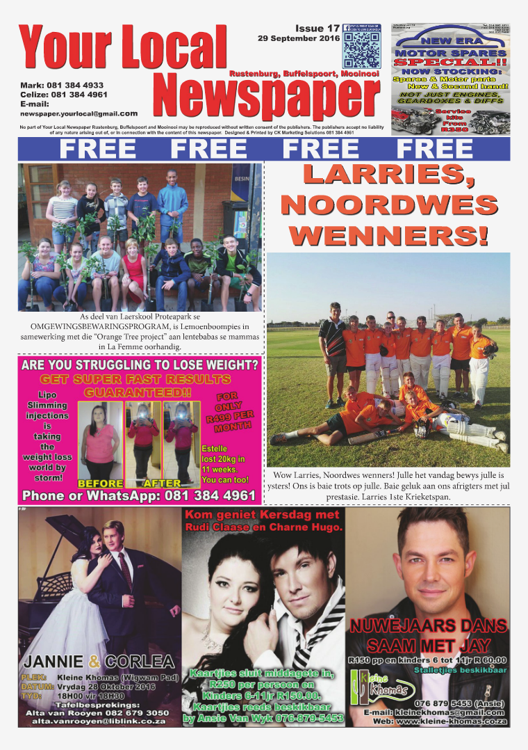 Your Local Newspaper Latest Issue 17 Click here to Read!