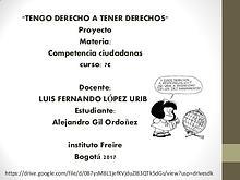 TENGO DERECHOS A TENER DERECHOS