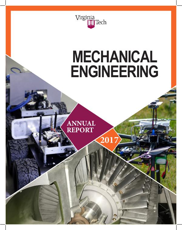 Virginia Tech Mechanical Engineering Annual Report 2017 Annual Report