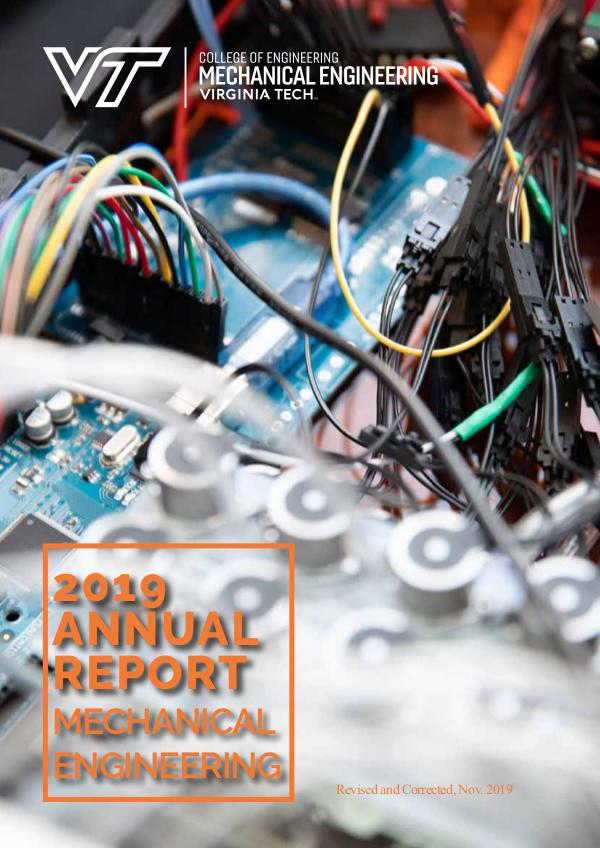 Virginia Tech Mechanical Engineering Annual Report 2019 Annual Report