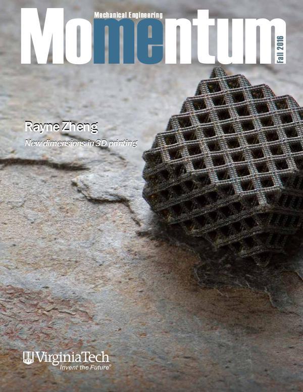 Momentum - The Magazine for Virginia Tech Mechanical Engineering Vol. 1 No. 3