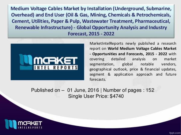 Factors affecting the growth of Medium Voltage Cables Market, 2015-22 1