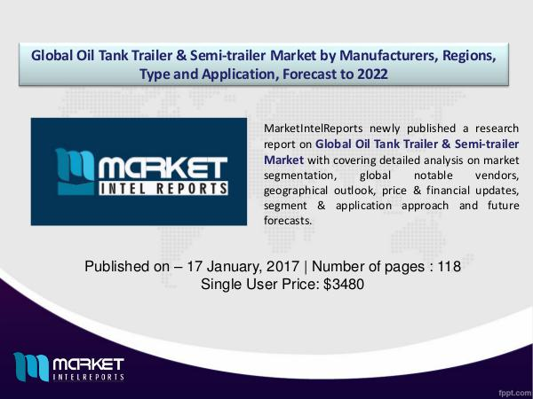 Competitor Analysis of Global Oil Tank Trailer & Semi-trailer Market 1