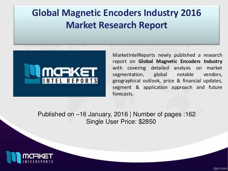 Magnetic Encoders Industry (2016-2021) - MarketIntelReports Global Magnetic Encoders Industry Overview