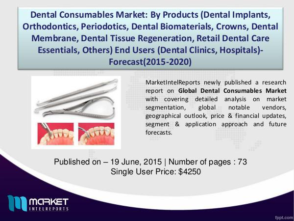 Global Dental Consumables Market – SWOT Analysis (2015-2020) 1