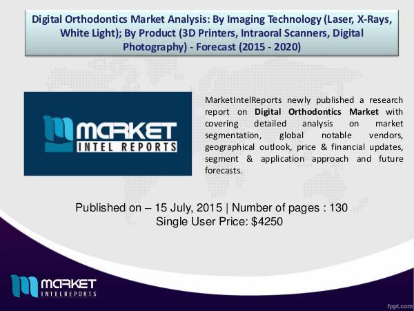 Market Challenges of Digital Orthodontics Market, 2015-2020 1