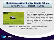 Global Robotic Lawn Mower Market Forecast & Analysis (2015-2021)